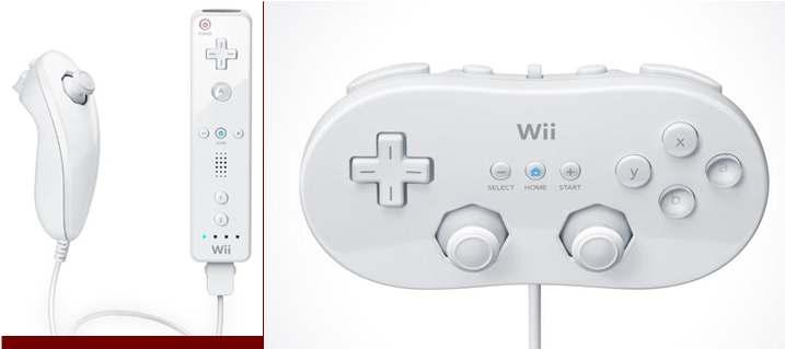 Nunchuck add-on to the wii remote to allow for more involved gameplay Wii Classic