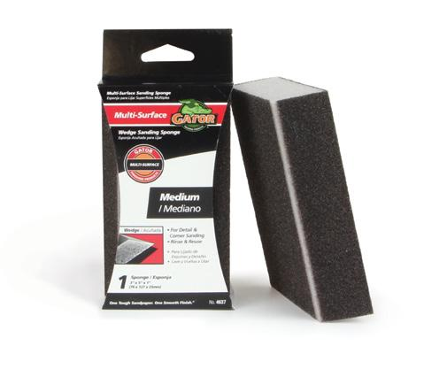 3 x 5 x 1 Multi-Surface Jumbo Sanding Sponges For use on wood, metal, drywall, fiberglass, and painted surfaces. Fits ZIP Sponge Holder Pg 6. Item No. Description Grade Pk. Qty. Inner/Master.