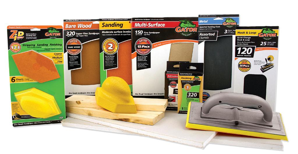 Hand Sanding Hand Sanding Hand sanding products from Gator Finishing offer both quality and variety, giving you the best possible finish for any project.