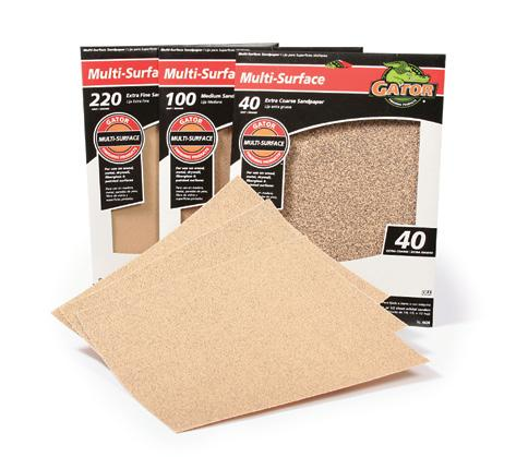 9 x 11 Bare Wood Sandpaper Best for general wood sanding and final wood preparation before applying stain, varnish, or paint. Softly cuts to produce a smooth finish.