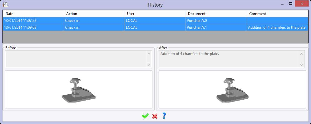 Like the Plate document, the Puncher document has two revisions. The first revision (A.