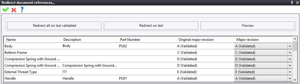 Exercise 14: The PDM TopSolid Design Basics Taking the modification into account and validating the revision Right-click on the Plate document. Select Check In. Right-click on the Plate document. Select Life Cycle (B - Design), then click on Validate.