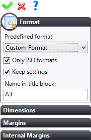 Select the A3 ISO Landscape format in the drop-down list and click on to confirm. In the Sketch tab, select Title Block. Warning: Every time you click on this icon, TopSolid creates a new title block.