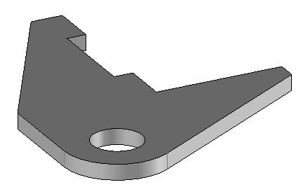 TopSolid Design Basics Exercise 3: The bracket Exercise 3: The bracket Concepts addressed: - Adding constraints - Extruding a contour - Performing a volume trim - Making a drilling - Assigning