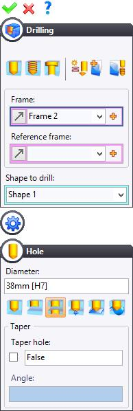 TopSolid Design Basics Exercise 11: The axis Use the Shape > Drilling command to