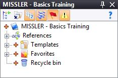 on the icon. In the Name field, rename your project as follows: Your name Basics Training.