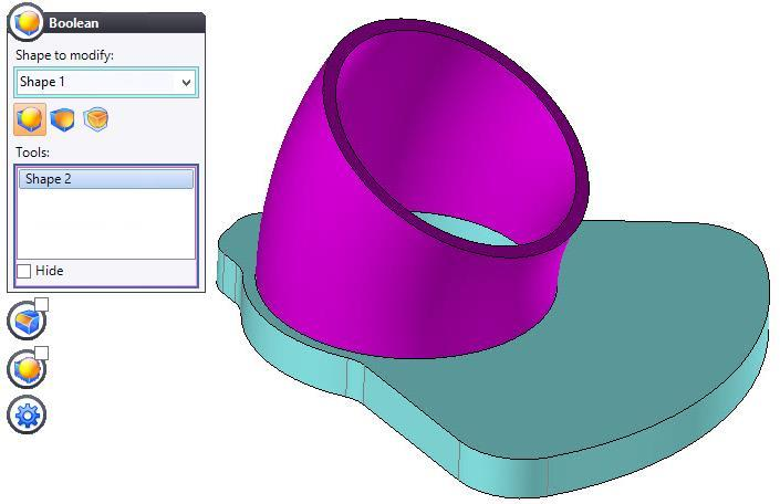 TopSolid Design Basics Exercise 12: The elbow Note: At this point, your part is comprised of two separate shapes.