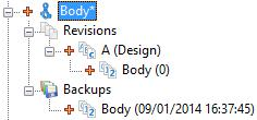 Also notice that TopSolid has automatically created a Backups subfolder. Save and close the document.