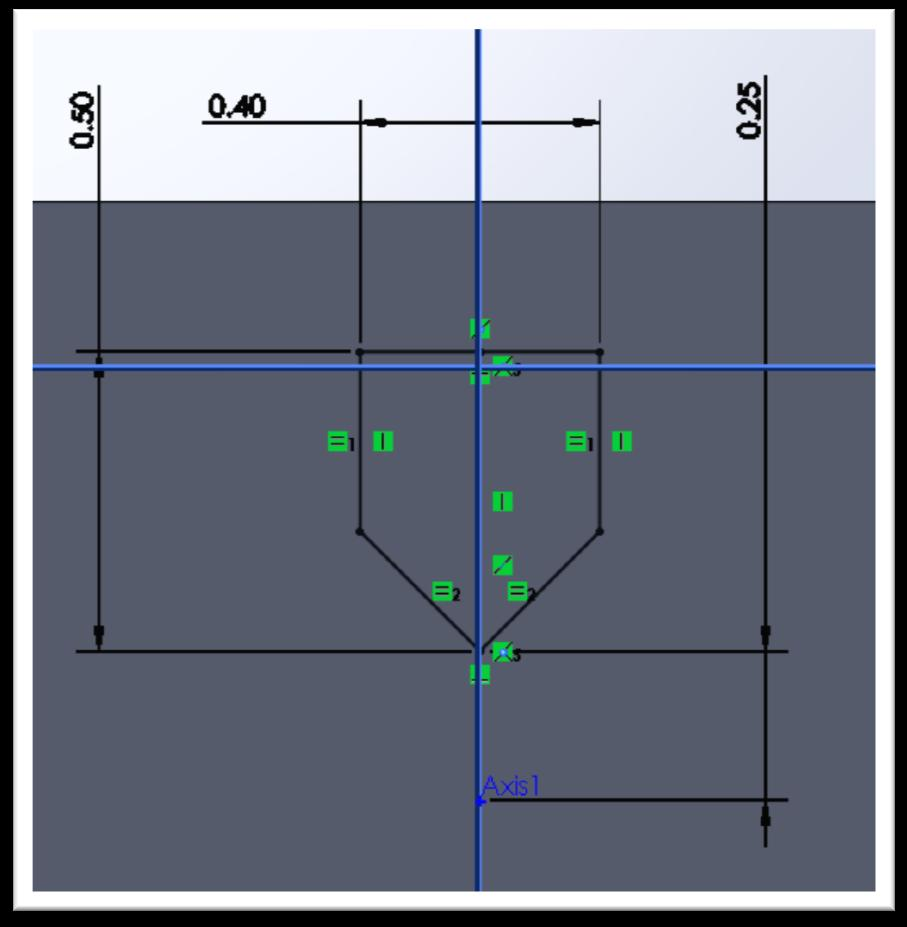 NOW you can make the centerline you drew co-linear to the RIGHT plane.
