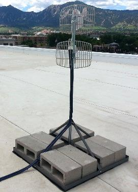Identify a suitable location where the donor antenna will be installed on the roof or at an elevated location free of any other antennas or immediate obstructions.