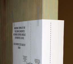 "7. TAPE ON DOOR: ""SURFACE-MOUNTED NETWORX CONTROL UNIT"" TEMPLATE (WI2103) The Surface-Mounted Networx Control Unit (see Fig."