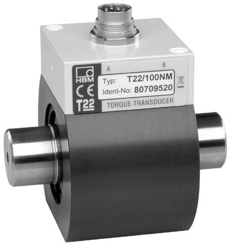 T22 Torque transducer Special features - Nominal (rated) torques 0.