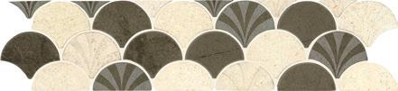 "SCALLOPED BEIGE 3"" x 13-1/4"" Decorative"