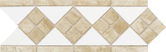 "ARCTIC WHITE TRAVERTINE 4"" x"