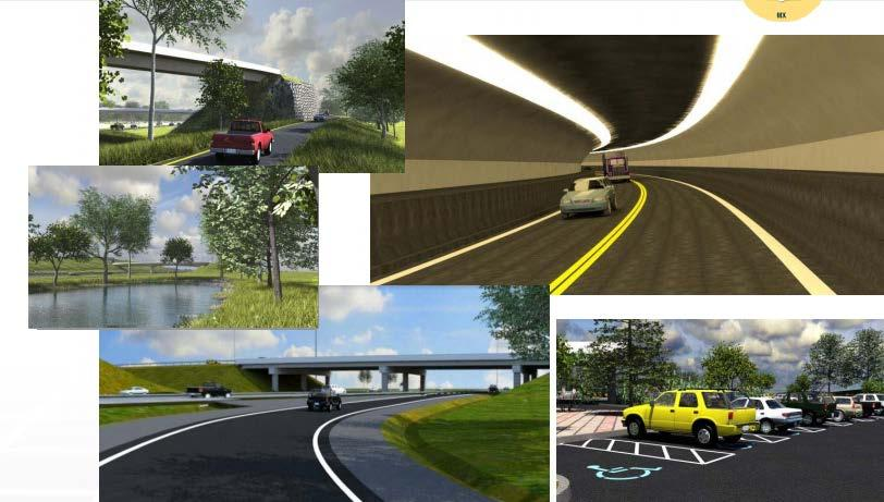 Visualization Use native MicroStation visualization tools or LumenRT Integrate models with Civil Roadway information for more comprehensive