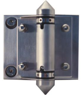 HINGE TENSIONING GUIDE ADJUSTMENT HOLES + + Hinge 70mm tensioning tool 15mm stop 1. With 70mm tensioning tool, remove the 15mm stop located in adjustment and bolt hinge to the hinge panel and gate 2.
