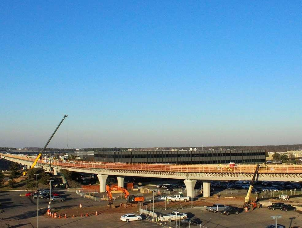 Aerial Guideway: Shafts/Columns/Caps 197 of 197 Shafts: 100% Complete 137 of 137 Round