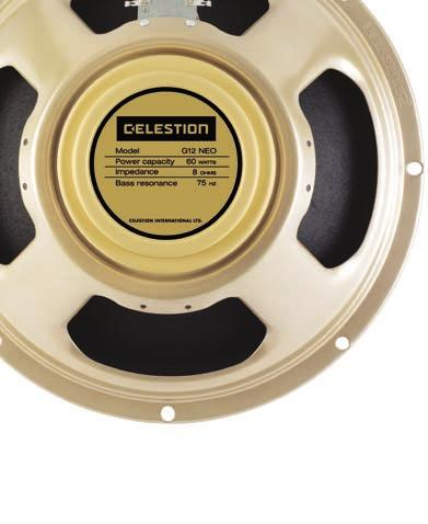 CREAMBACK As the choice of legends like Eric Clapton, Jimi Hendrix and Angus Young, Celestion s ever-evolving Greenback had become the reference point not just for sweet, harmonically rich tone but