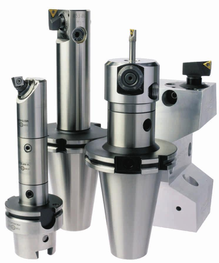 MICROBORE - BORING SYSTEM Rough boring system: Prismatic shape serration design (angular) Angular serration absorbs high clamping pressure & vibration Used on both standard-boring and