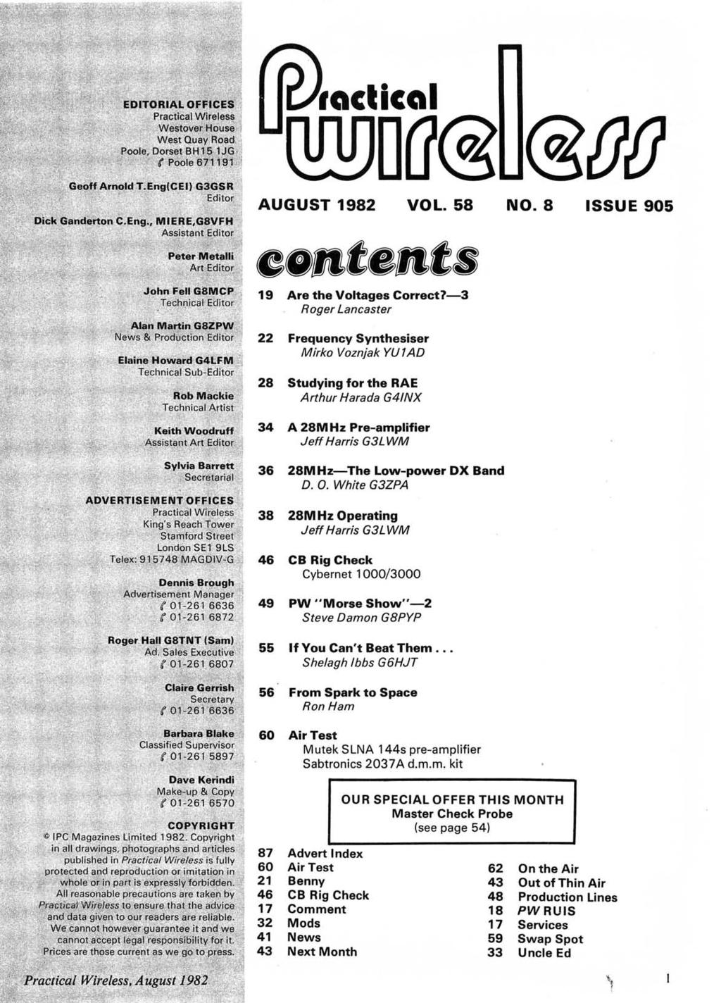 www.americanradiohistory.com AUGUST 1982 VOL. 58.e.te.t. 19 Are the Voltages Correct7-3 Roger Lancaster NO.