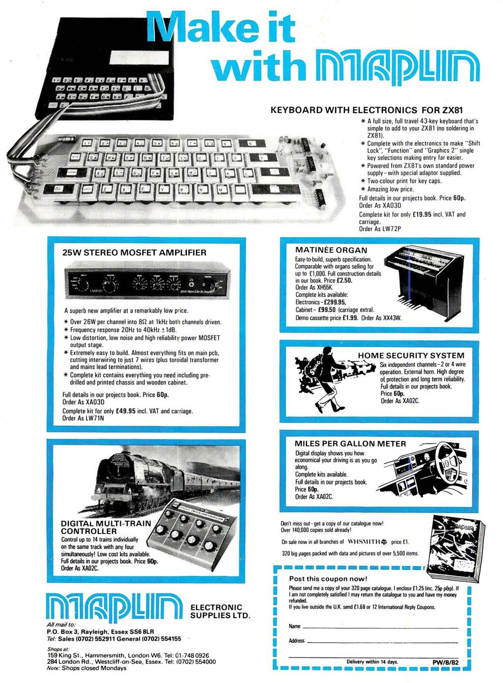 "al<e it """"it h 1n)11rRJPO:rfi) KEYBOARD WTH ELECTRONCS FOR ZX81 * A full size, full travel 43 key keyboard that 's simple to add to your ZXB1 (no soldering in ZXB1l."
