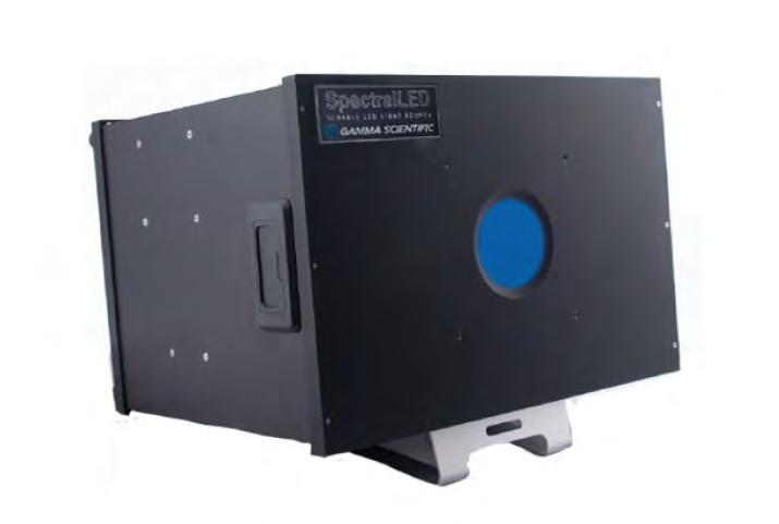SpectralLED RS-7-1-VIS Benchtop Uniform Light Source For the ultimate in resolution and accuracy, the SpectralLED Tunable VIS source incorporates 35 discrete wavelengths for synthesis of commercially