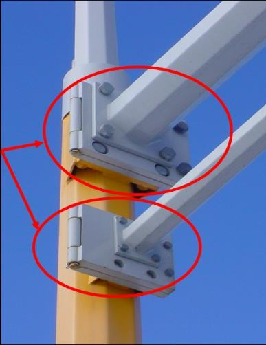 Figure 16-3: Swing Away Hinges Before the project begins, the contractor must furnish to the engineer, for approval, four complete sets of shop drawings as specified in the contract documents.