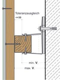 For smaller cladding zones, the design easily accommodates any uneveness in the timber and allows the