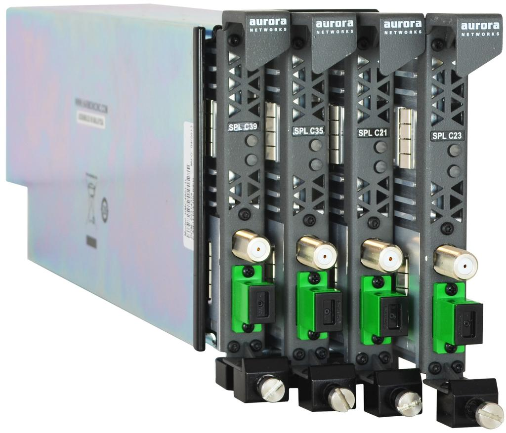 network bandwidth Universal solution for network segmentation and fiberdeep applications Dual ports: one broadcast, one narrowcast Blind mate RF connectors for streamlined module insertion and