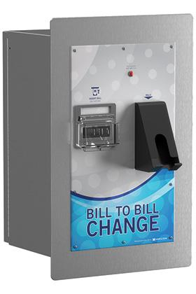 BILL TO BILL MINI Compact Bill Dispensing Rear-Load The Bill to Bill Mini features the same high-quality components as the Bill to Bill changer, but takes up a smaller footprint.
