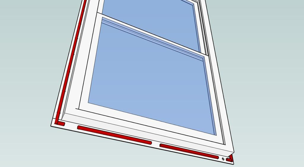 corner diagonally away from the opening on each side Fold the face down, then fold the sides : Step 3 Seal the Window Seal the Window Make sure the flange on the window is clean and clear of debris