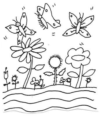 All Ages. Poems To Color. Fluttering Butterflies. Directions. Print out. Read the poem. Color the picture. Color the word. p.9.
