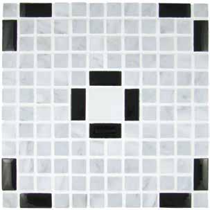 Structures Series II Pop Art T960 Black Glass Tile and