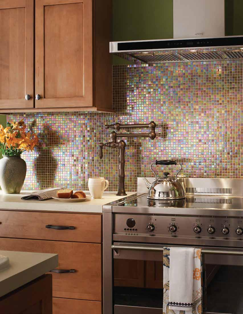 Platinum Series Transparent and semi-transparent mosaic glass tiles distiguishable by their