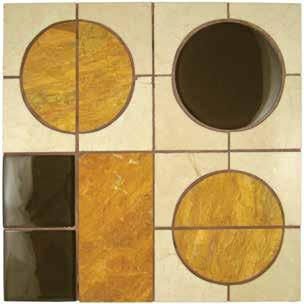 Opus Series Carib T860 Chocolate Brown Glass Tile, Crema Marfil and