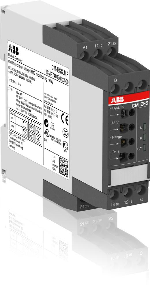 Data sheet Voltage monitoring relays CM-ESS.M For single-phase AC/DC voltages The CM-ESS.