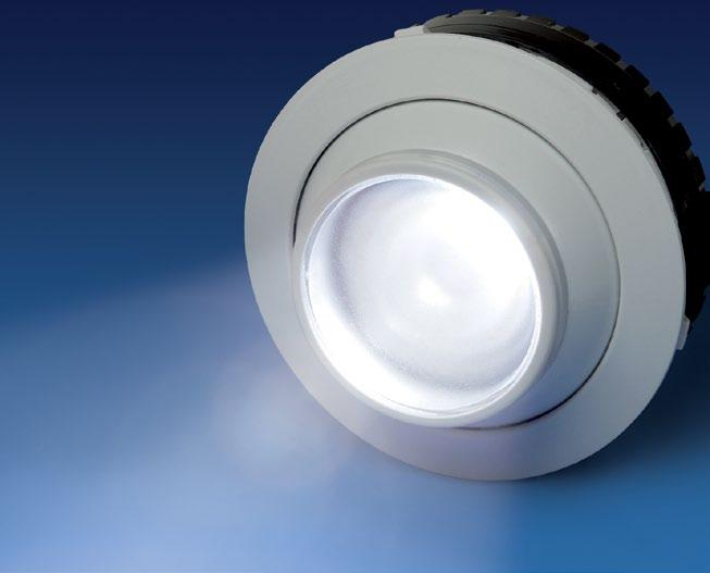 Together with a specially designed reflector it provides a homogeneous illumination within a defined area.
