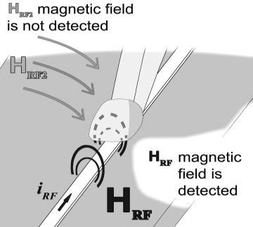 Other magnetic field components from the vicinity are ignored in detection.
