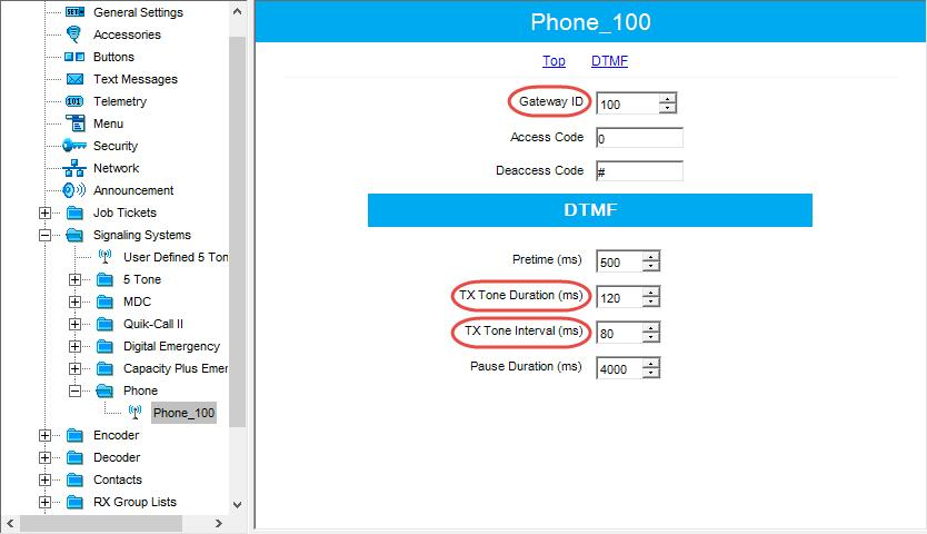 4.3.7 Phone System In the left pane, select Signaling Systems > Phone. Right-click it, and choose Add > System. In the left pane, under Phone, select the phone system that has been just added.