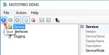 1.3, DDMS Service, Service IP Address and Authentication Port, respectively.