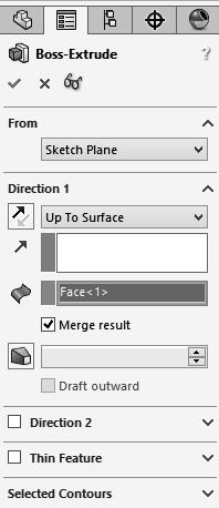 Select a Vertex Up To Vertex Condition E Using the Up To Surface