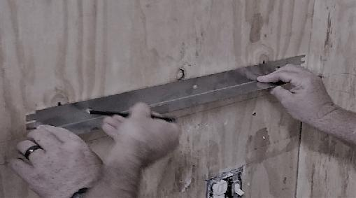 ATTENTION: Be sure to use Mounting Bolt in each hole along Bottom Support Rail, as it is the Base that supports the majority of the weight. A.