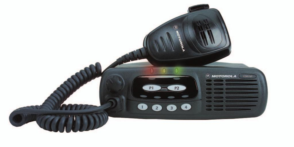 CDM750 Available in Low Band, VHF and UHF Operates on Conventional Systems The Practical Radio that gets the job done This radio is ideal for organizations and businesses with moderate communication