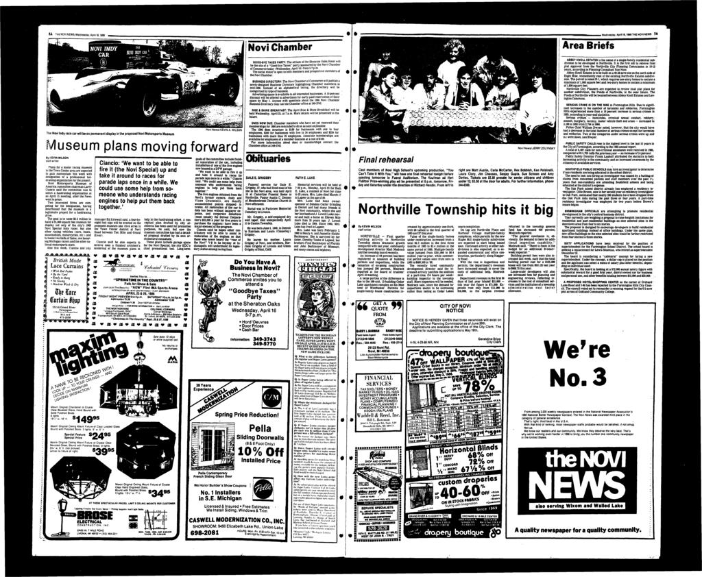 8ATHENOV NEWg/W dnbsdfly, April 16,1986 -T Nvi Chaber Area Briefs, Wednesday, April 16,198e/THE NOV NEWS 7A Nvi News/KEVN A.