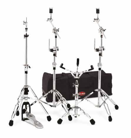 HARDWARE PACK 9700 HARDWARE PACK 9000 heavy duty hardware pack. Includes: (1) snare stand, (1) hi hat stand, (2) boom cymbal stand, (1) straight cymbal stand.