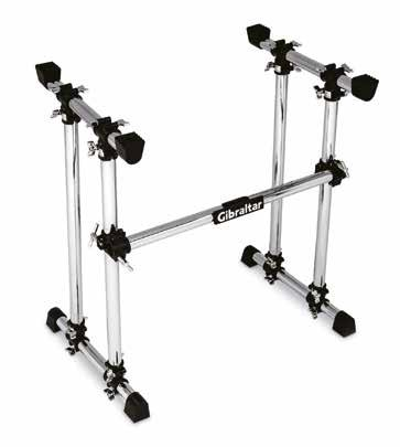 DJ WORKSTATION & ACCESSORIES RADIUS DJ WORKSTATION - Two sets of adjustable mounting arms for controllers, decks, mixers or laptops - 36 inches tall with a 30-inch cross mounting bar - 30-inch T-legs