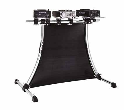 DJ WORKSTATION & ACCESSORIES 2-PANEL FOLDING SCREEN - Plexiglass shield helps hide cables and equipment - Translucent panels