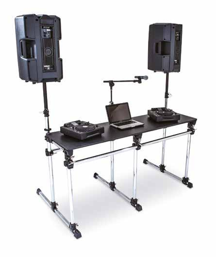 DJ WORKSTATION & ACCESSORIES ELEVATE SPEAKER EXTENSIONS - Pair of extension bars with mounts and clamps -