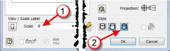 b). While still in the Drawing View dialog box change the style of the view by clicking the Shaded option in the Style area. c). Click OK to complete the edits. 6).