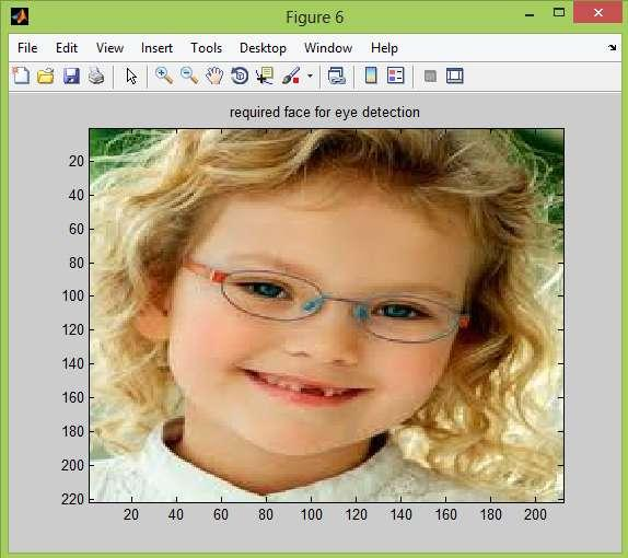 Upper portion of face (40% of face region cropped): Then the upper portion of the face is cropped from the extracted face image. This is done to speed up the detection speed of the algorithm.